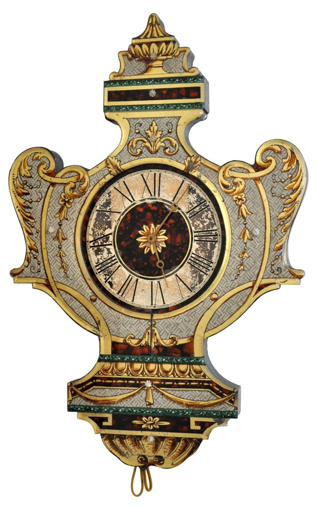 Decorative Eglomisé Wall Clock