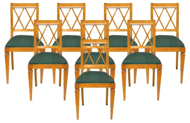 Antique French Chairs, S/8