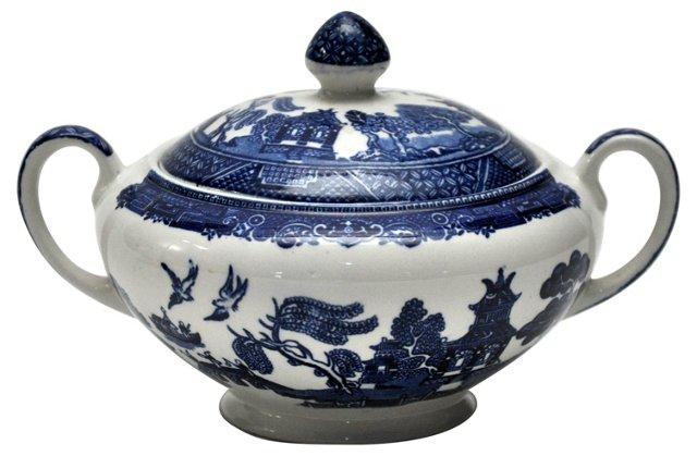 Blue Willow Sugar Bowl