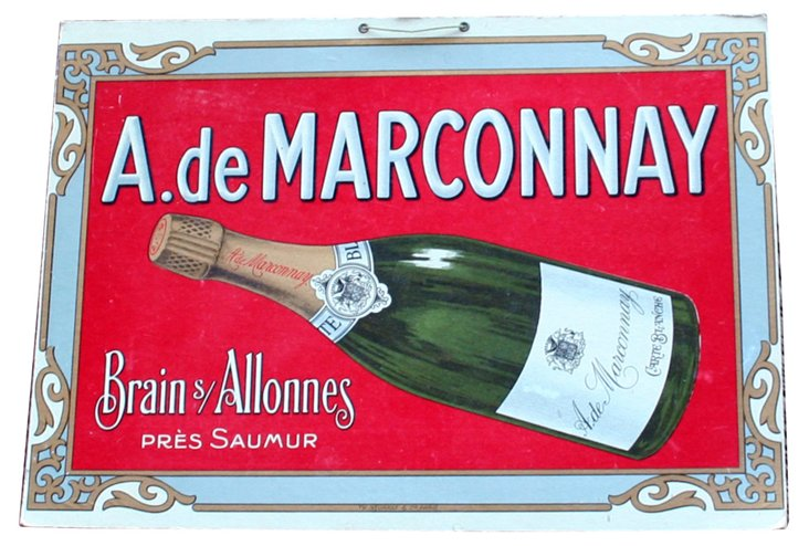 Marconnay Champagne Sign