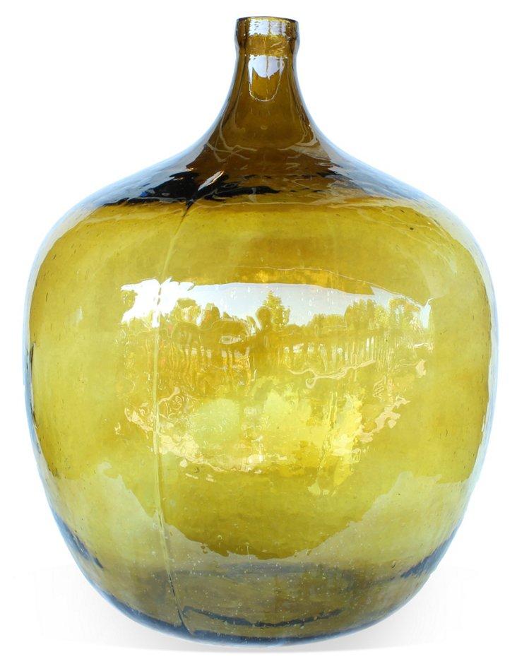 French Glass Wine Jug