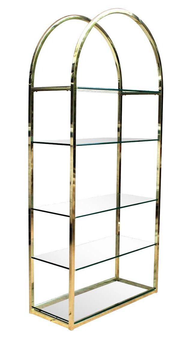 Brass & Glass Étagère by DIA
