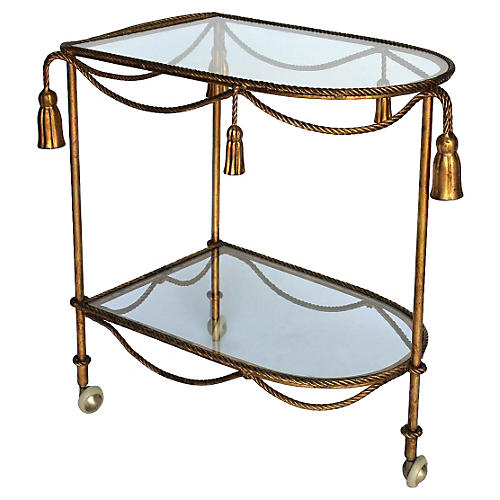 Rope & Tassel Bar Cart