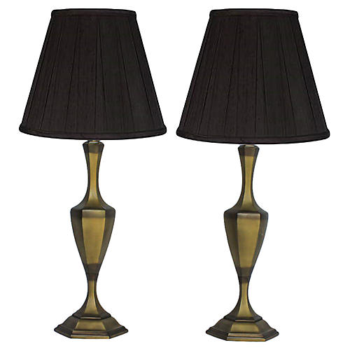 Two-Tone Brass Lamps