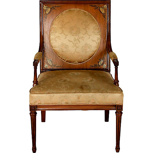 Hand-Painted Regency-Style Armchair