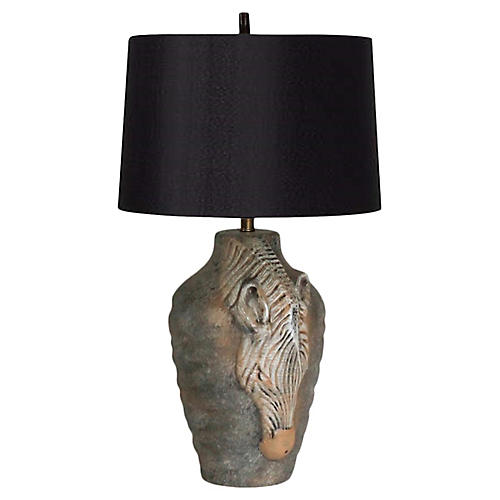 Zebra Table Lamp