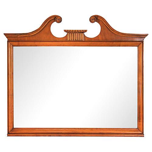 Open Scroll Pediment Mirror