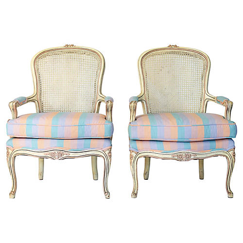 French-Style Bergere Chairs