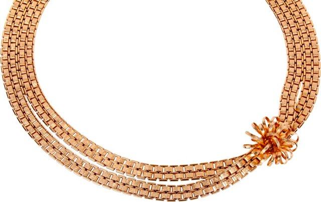 Napier Chain Link Flower Necklace