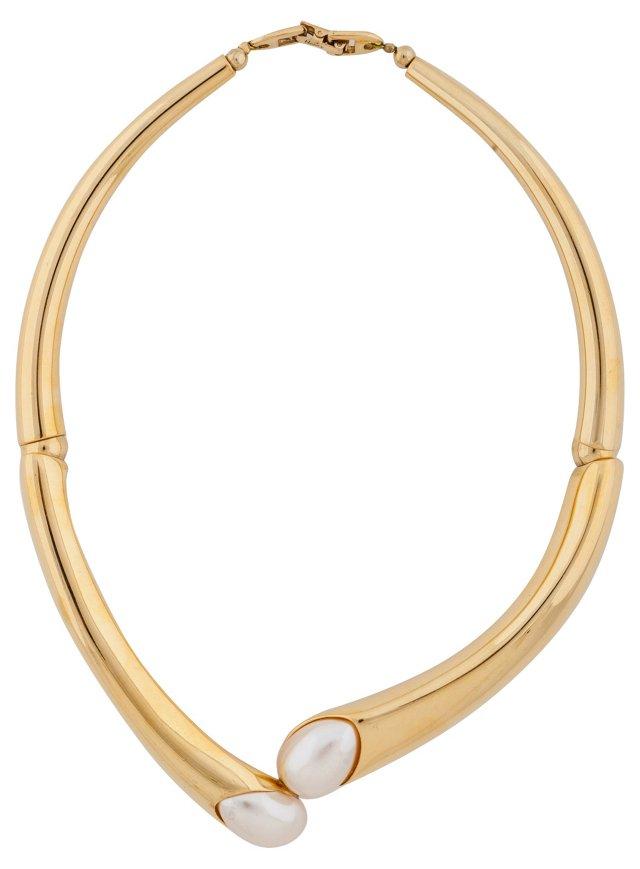 Napier Faux-Pearl Collar Necklace