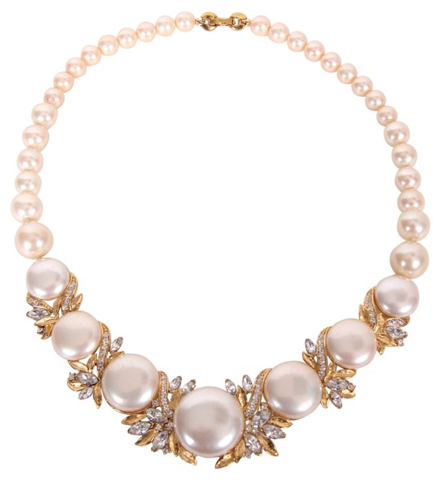Trifari Faux-Pearl Necklace