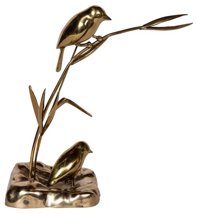 Birds on a Branch Sculpture