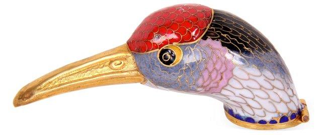 Cloisonné Bird Pillbox