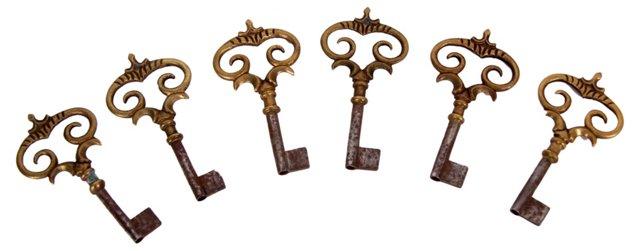 Decorative Keys, S/6