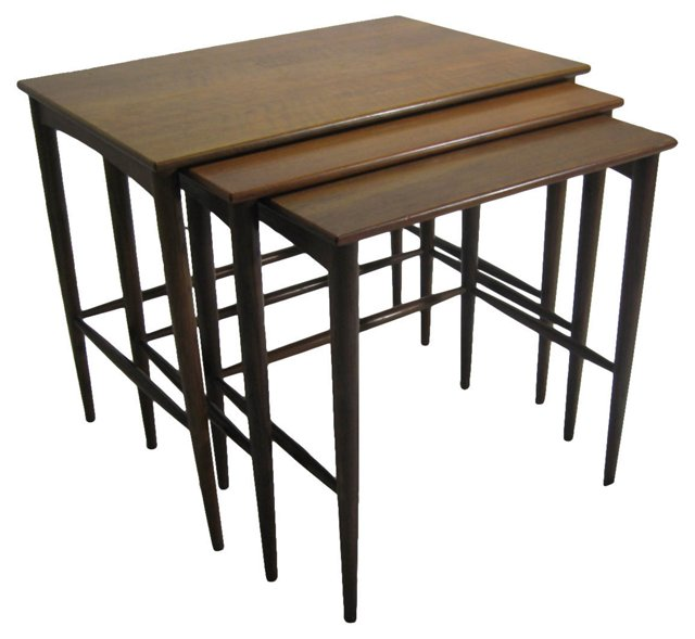 1960s Swedish Nesting Tables, S/3