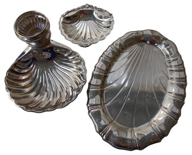 Silverplate Serving Peices, 3 Pcs