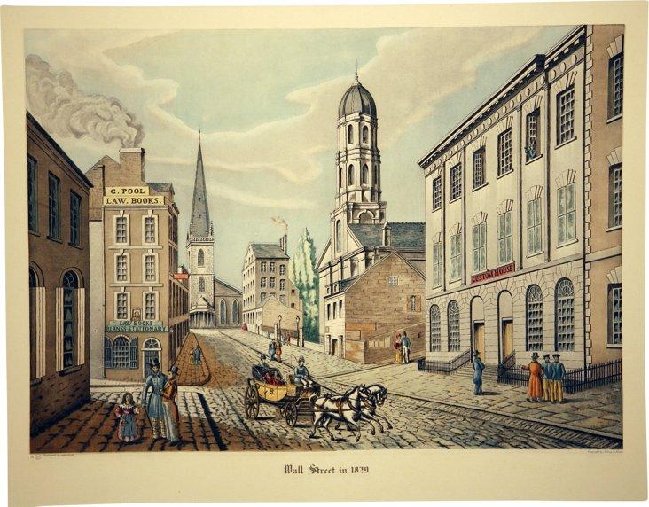 Wall Street, 1829