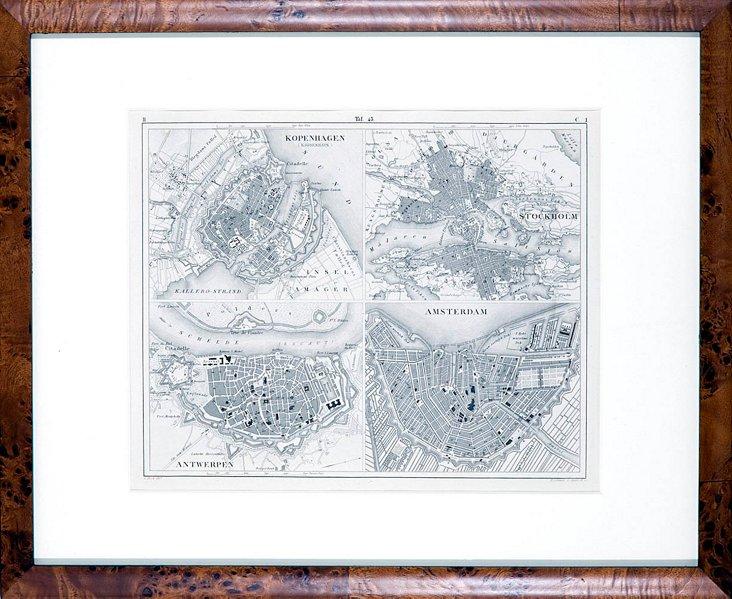 Map of Antwerp & Amsterdam