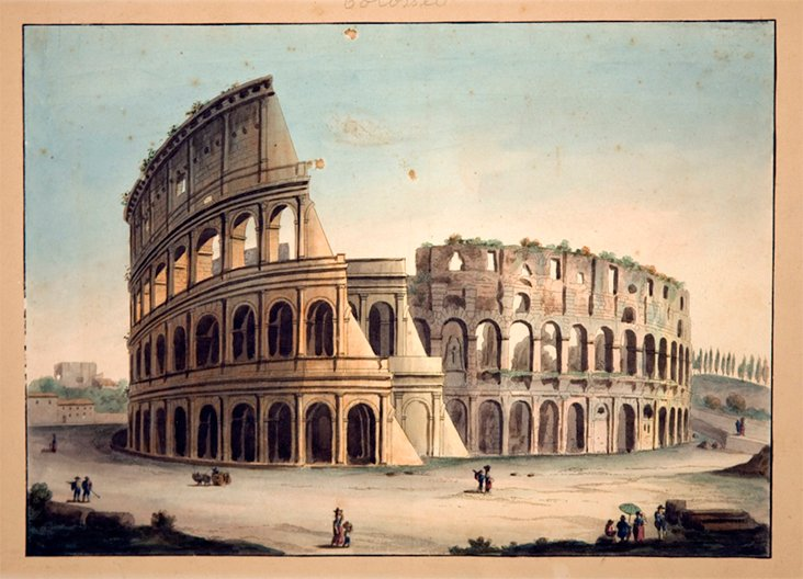 Watercolor of The Coliseum