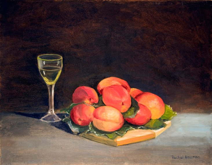 Peaches with Wine
