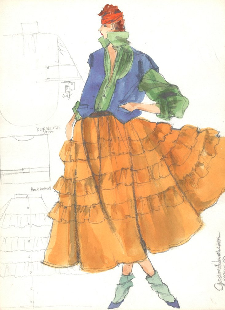 MOVE Colorful Fashion Drawing