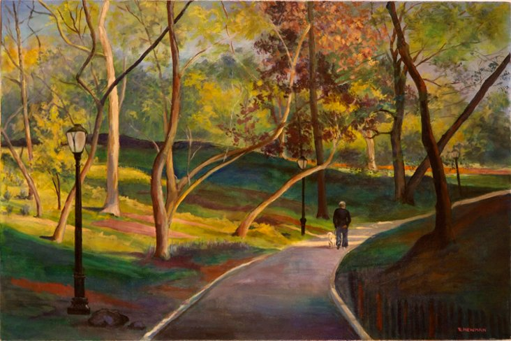 Walking The Dog, Central Park, New York