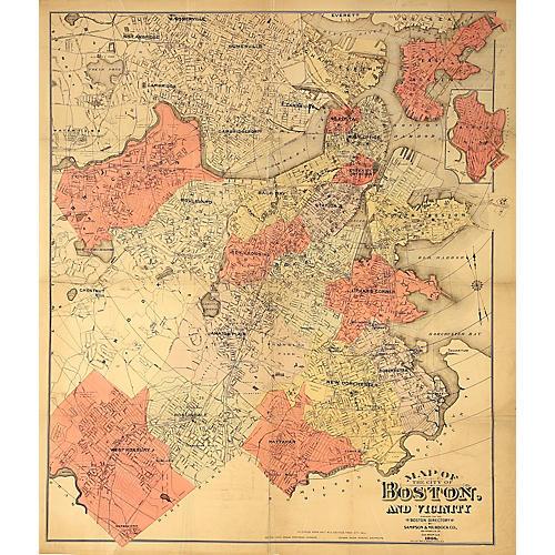 1904 Map of Boston & Vicinity