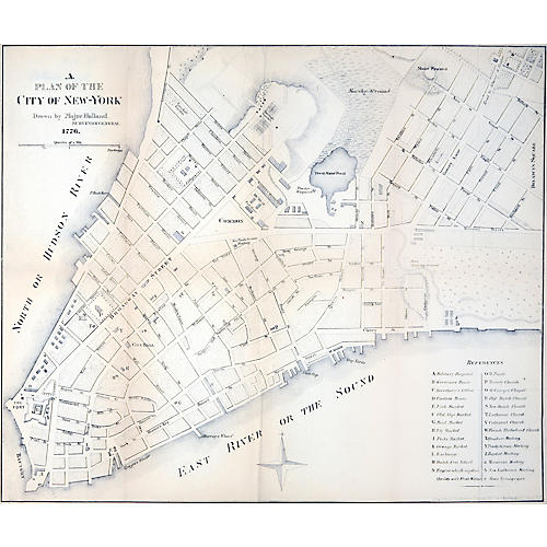 1776 Plan of the City of New York