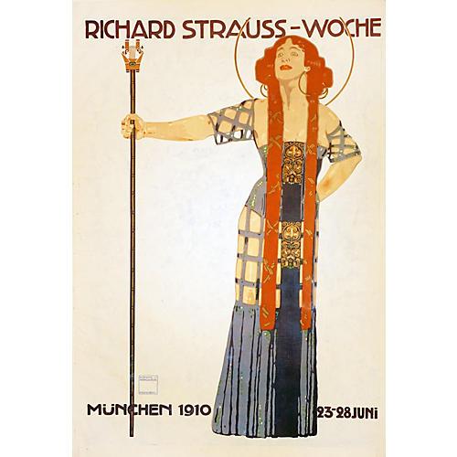 1910 Strauss Opera Poster, Munchen