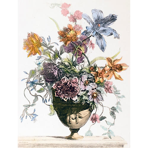 French Still Life in Classic Vase