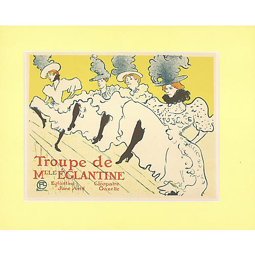 Can-Can Chorus Line by Toulouse Lautrec