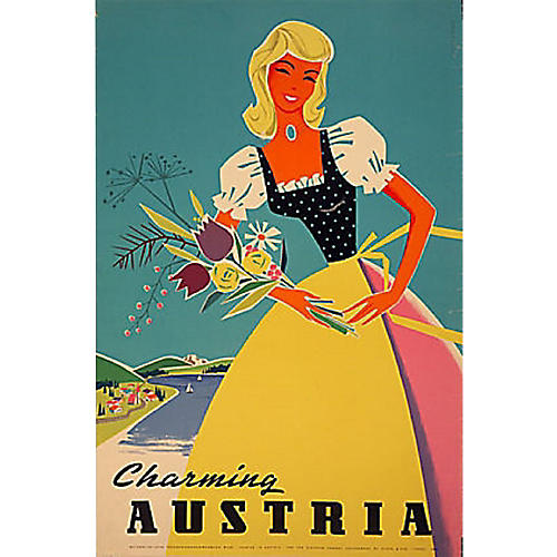 Charming Austria Travel Poster