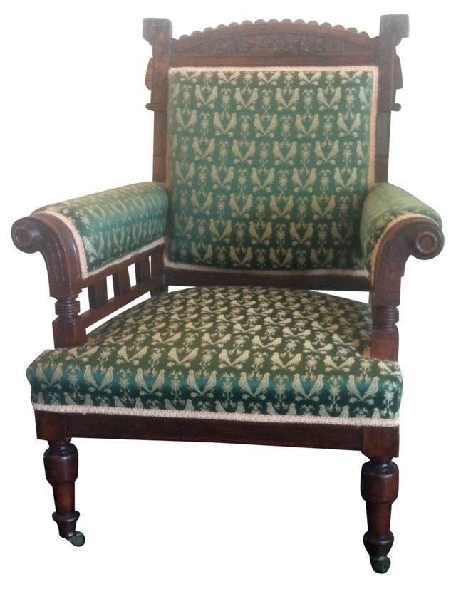 1870s Victorian Mahogany Armchair
