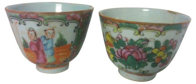 Chinese Porcelain Teacups, C. 1880, Pair