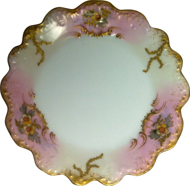 Hand-Painted Limoges Plate