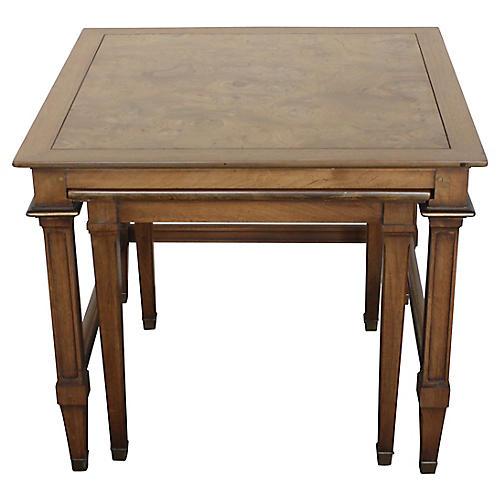 Burl Maple Nesting Tables, S/2