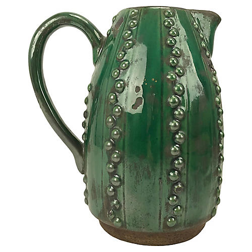 Emerald Green Decorative Pitcher