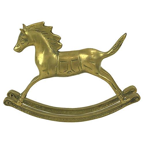 Solid Brass Rocking Horse