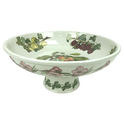Botanical Ceramic Pedestal Bowl