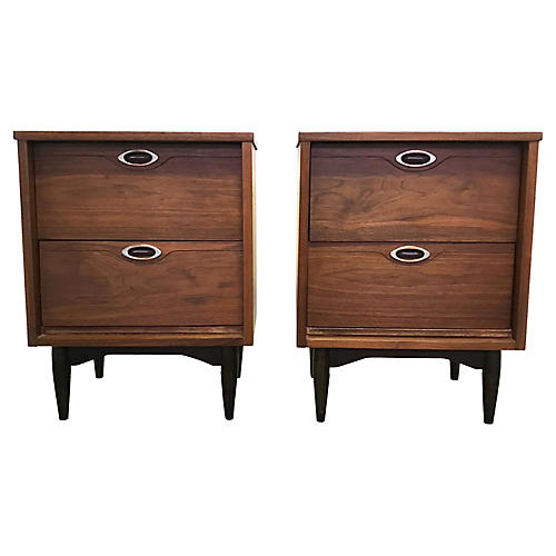 Nightstands by Mainline for Hooker, Pair