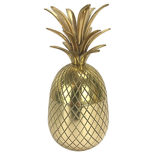 Solid Brass Pineapple Box