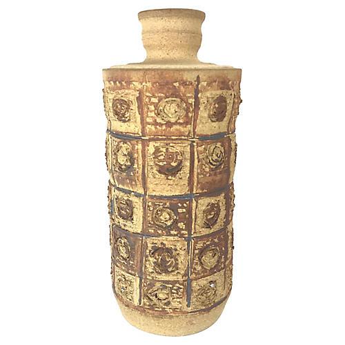 Midcentury Brutalist Stoneware Vessel