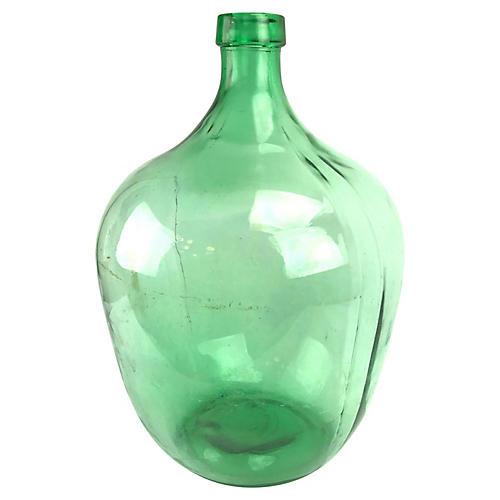 "Emerald Glass French 20"" Demijohn"