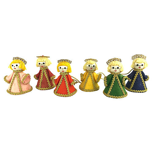 Hand-Made Angel Ornaments, S/6