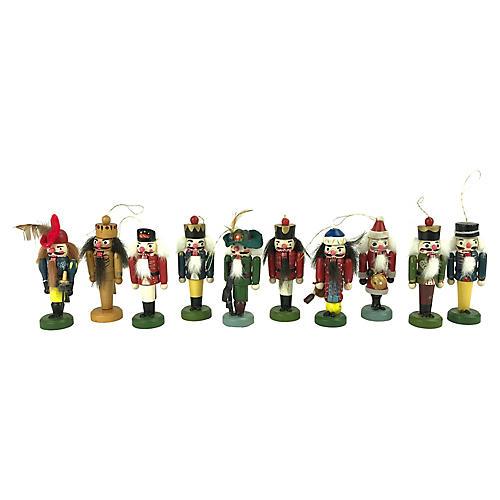 German Nutcracker Ornaments, S/10