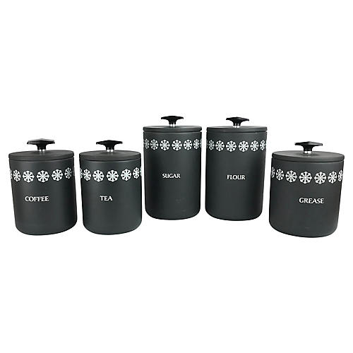 Miracle Maid 5-Piece Canister Set