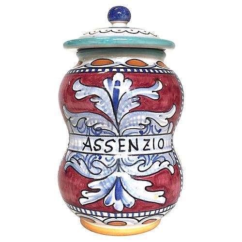 Italian Assenzio Lidded Jar
