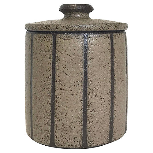 Hand-Thrown Stoneware Lidded Catchall