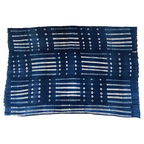 African Indigo Hand-Made Textile Throw