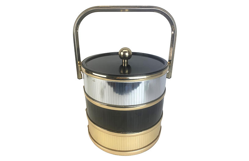 1970s Disco Modernist Ice Bucket